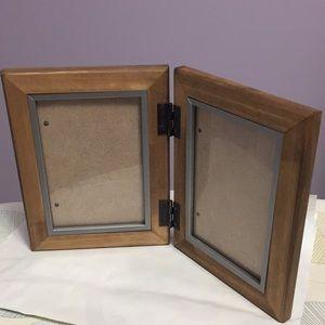 2 Opening Hinged Wood Frame